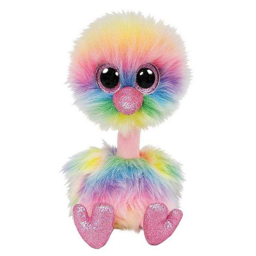 TY Beanie Buddy Struisvogel Knuffel Asha 24 cm
