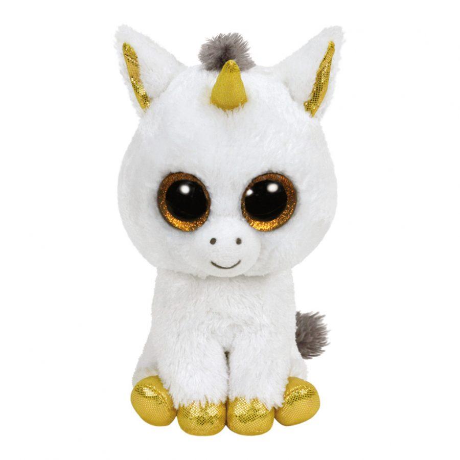 Ty Beanie Witte Eenhoorn Pegasus Knuffel 15cm