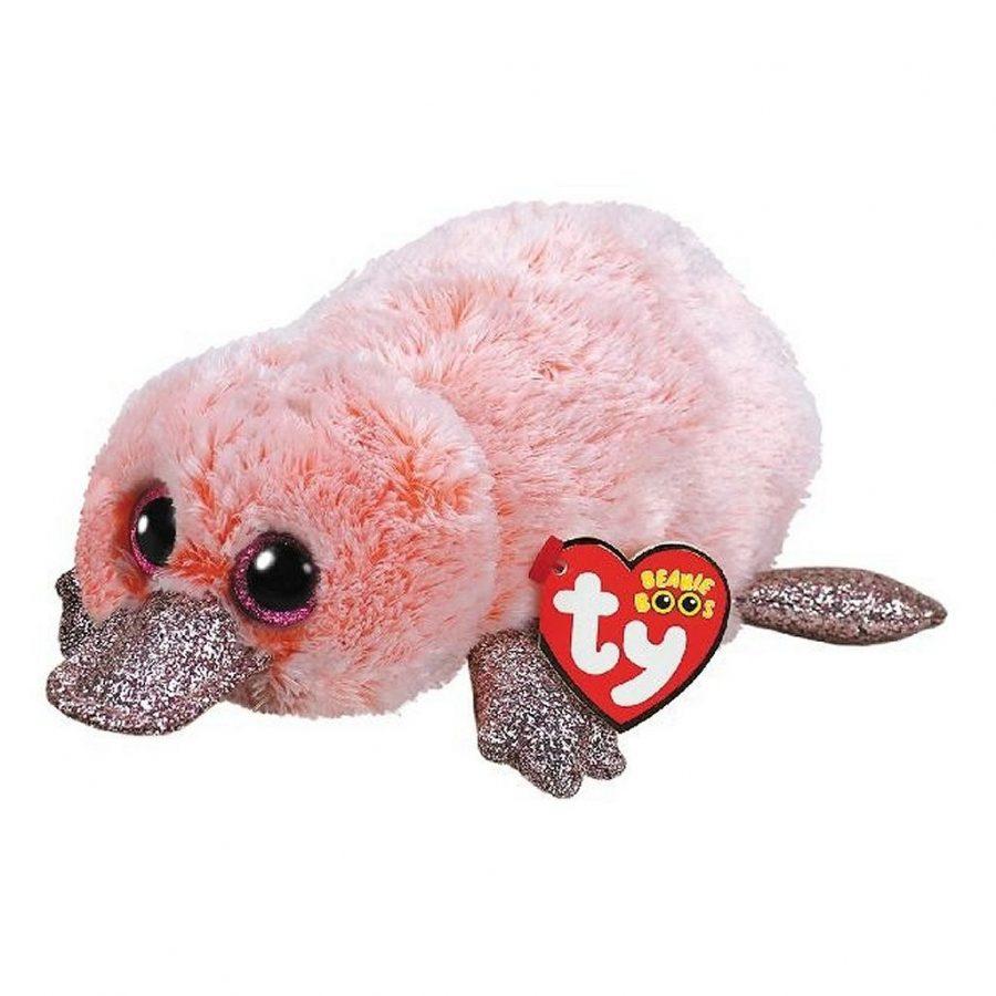 TY Beanie Classic Roze Eend Knuffel Wilma 15 cm