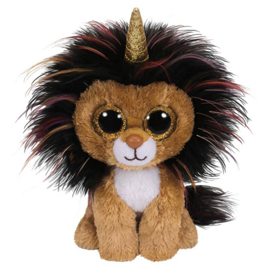 TY Beanie Knuffel Leeuw met Gouden Hoorn Ramsey 15 cm
