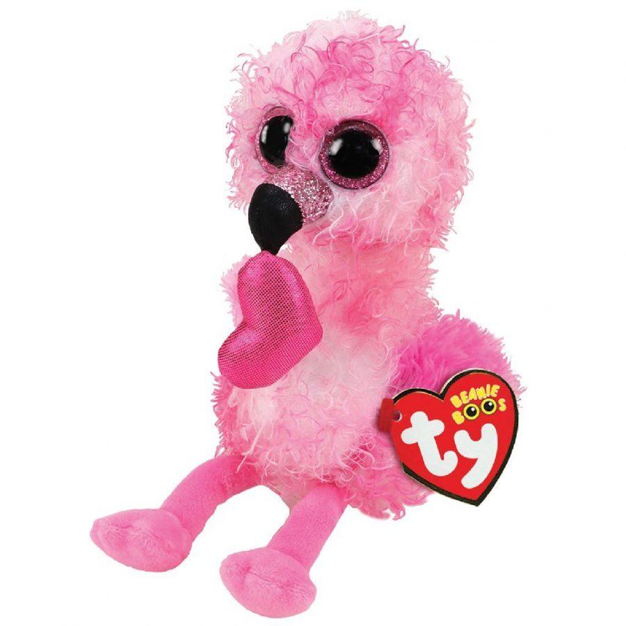 TY Beanie Boos Flamingo Knuffel Valentine Dain 15 cm