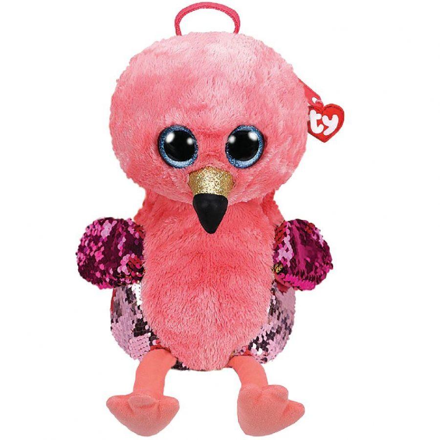 TY Fashion Rugzak Flamingo Gilda 33 cm Roze/Goud